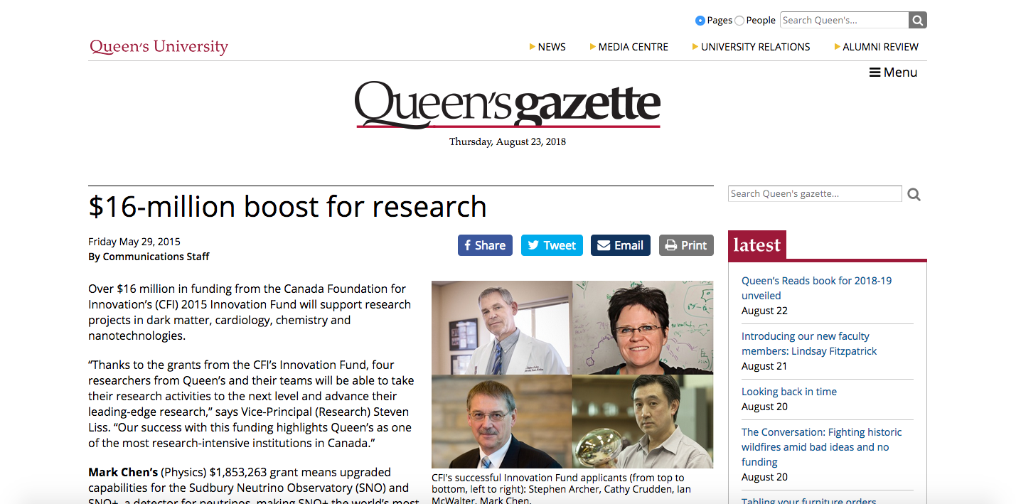 Queen's Gazette