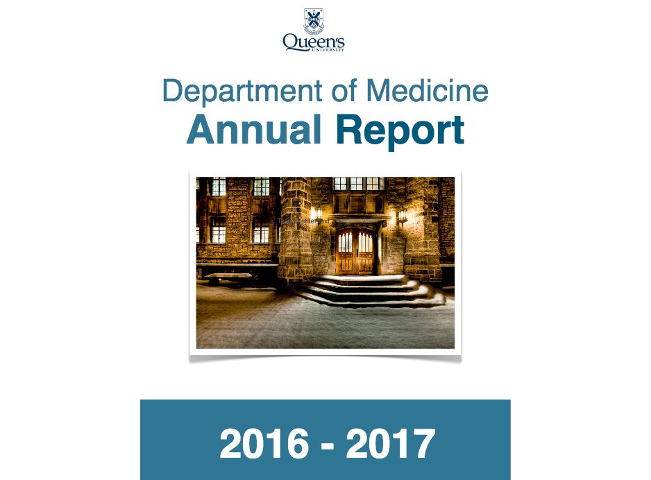 Department of Medicine - Annual Report 2016-2017