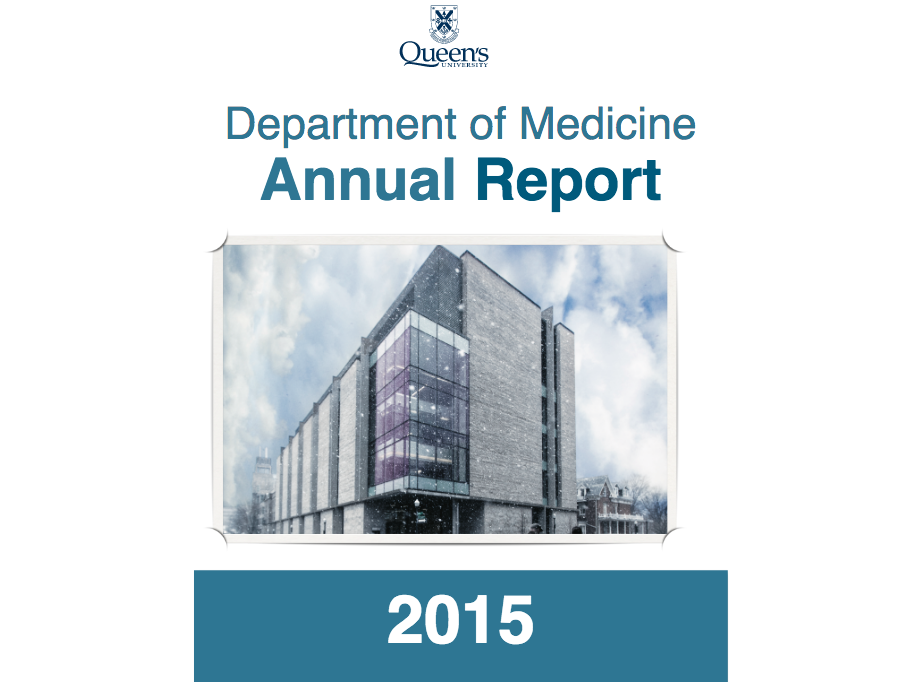 Department of Medicine - Annual Report 2015