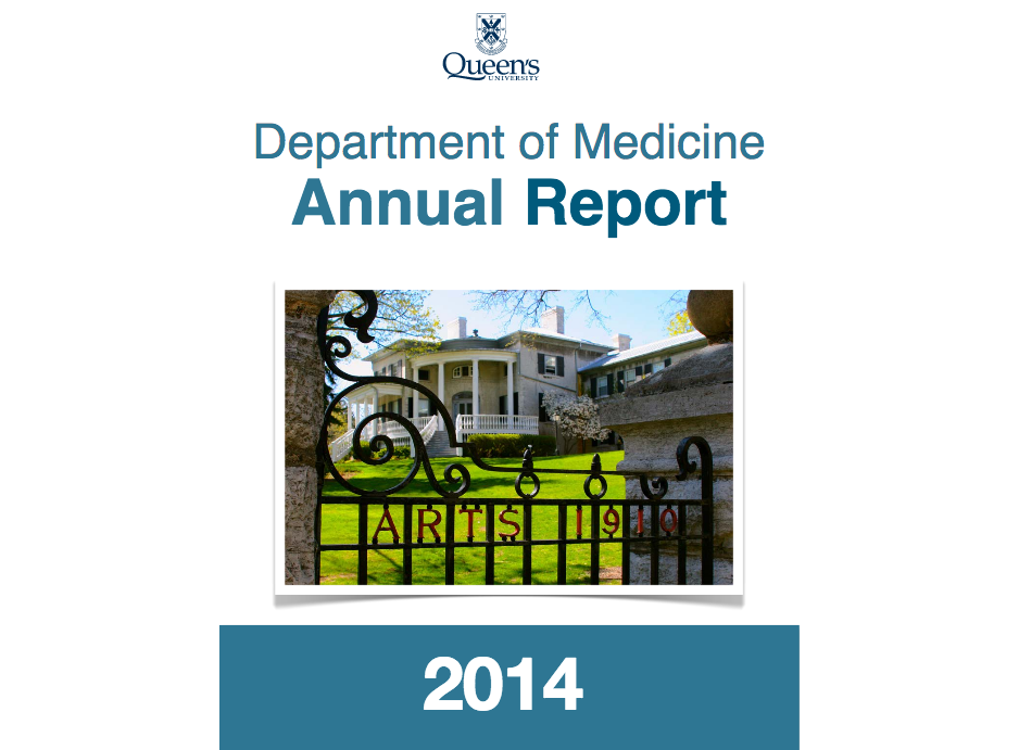 Department of Medicine - Annual Report 2014