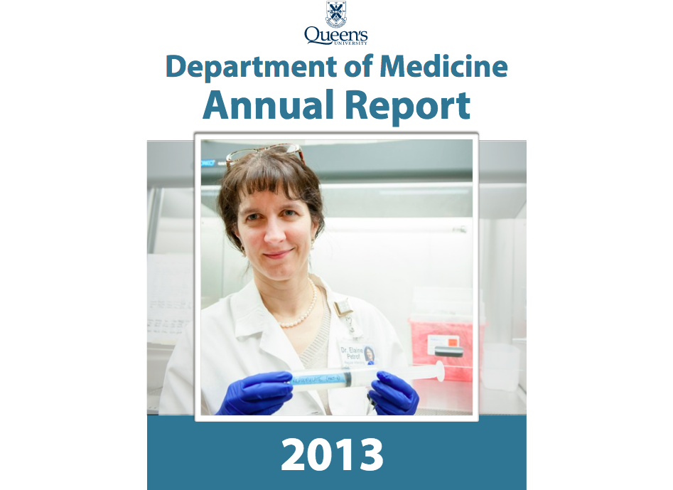 Department of Medicine - Annual Report 2013