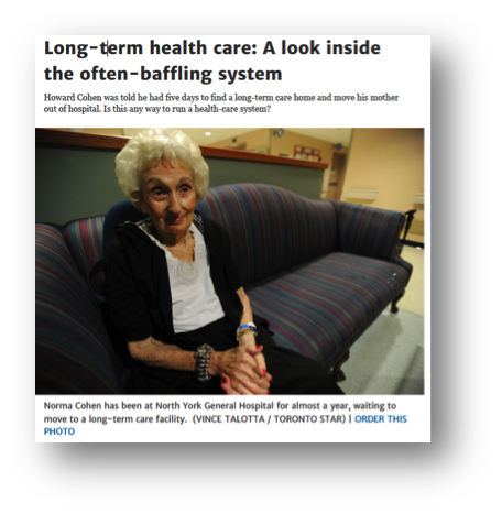 Long Term Health Care- A look inside the often baffling system