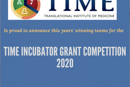 Announcement for TIME Incubator grant 2020nnouncement for TIME Incubator grant 2020 winning teams