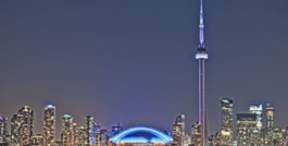 Toronto Skyline with CN tower and Rogers Centre