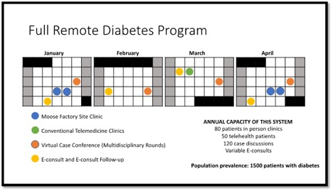 charts showing full remote diabetes program dates