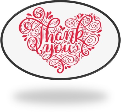 thank you written in red cursive