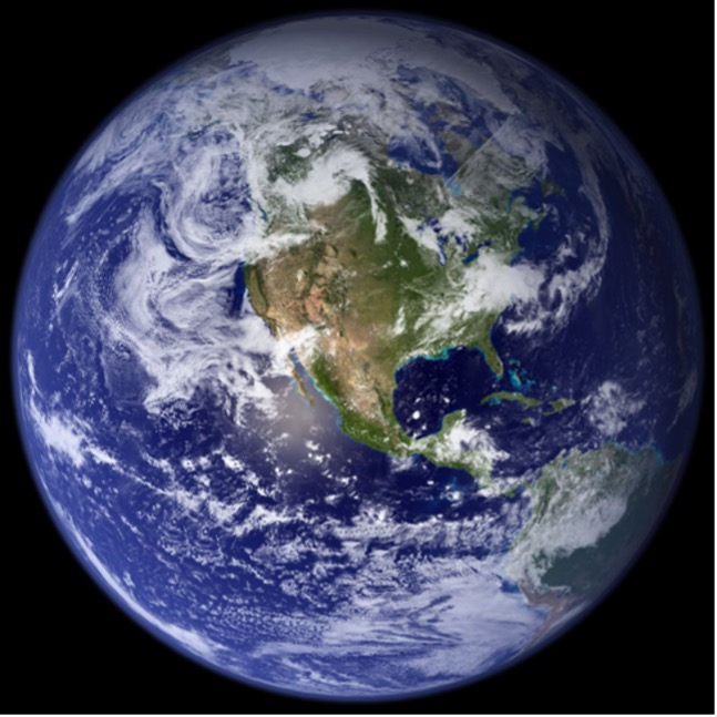 satellite image of earth taken from space