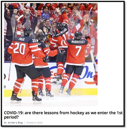 photo of Team Canada Hockey players celebrating after a goal