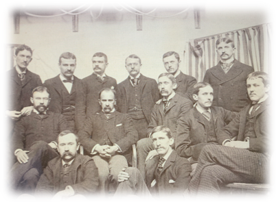 Photo of Sir William Osler with interns in 1889