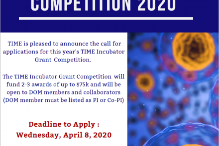 Announcement for TIME Incubator grant 2020