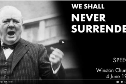 Winston Churchill we shall never surrender speech